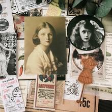DIY Vintage Kraft papier brief Aufkleber Scrapbooking Alten Fotos Alte Poster Poster Alben journal Glücklich Planer Gemischt Handtaschen