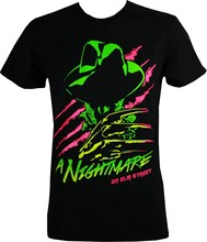 Cambia A Nightmare on Elm Street Neon Freddy Krueger Camicia(China)