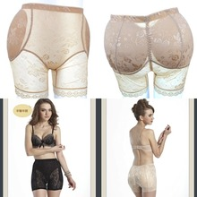 2015 Briefs brand sexy seamless lace postpartum padded panties butt enhancer hip up woman underwear plus size shaper bum pads