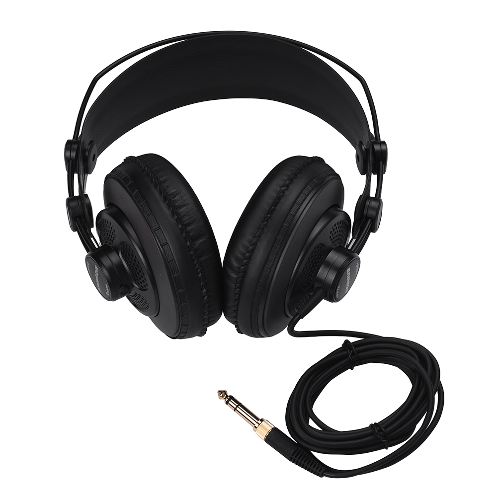 SAMSON SR850 Studio Reference Monitor Headphones Dynamic Headset Semi-open Design For Recording Monitoring Music Game Playing