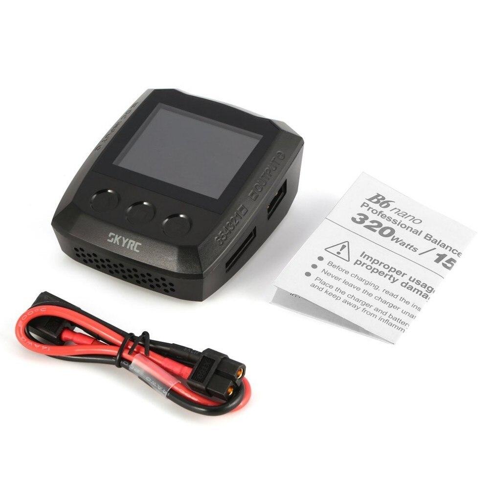 SKYRC B6 Nano DC 320 W 15A Bluetooth CC cargador de batería LiPo descargador para LiFe/Lilon/LiPo/ liHV/NiMH/NiCd/PB
