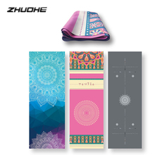 ZHUOHE Travel Yoga Mat Natural Rubber Non Slip Pad Tapetes Tapis Hot Bikram Pilates Fitness Sports Exercise Workout