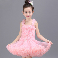 2 11Y Toddler Girls Layer Fluffy Tulle Dress Hand Petals Baby Girl Tutu Dress Princess Ballerina