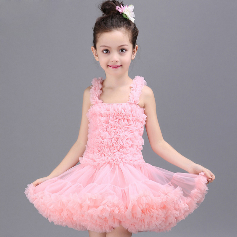 2 11y toddler girls layer fluffy tulle dress hand petals