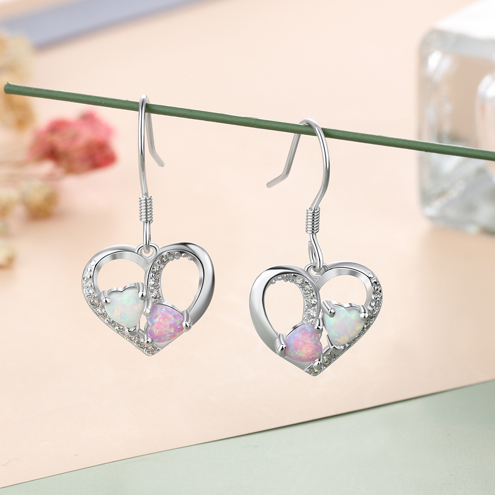 Best selling high quality S925 silver earrings fashion leaf shaped hollow earrings suitable for couples gift