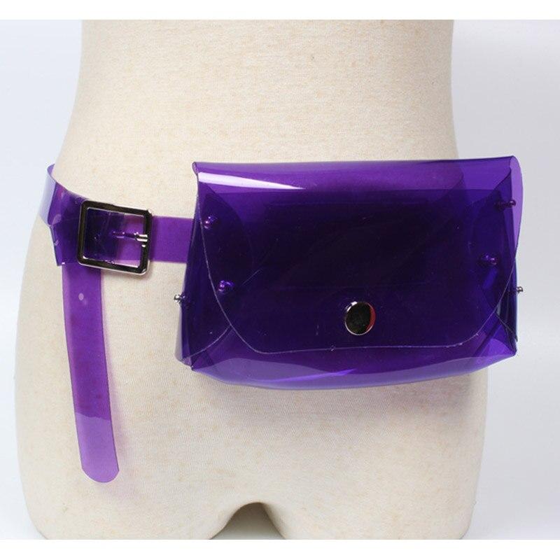 Casualmente light purple Femminile Blue Solido Della Dell'unità Regalo Coreano color Pack Cintura Sacchetto Donne Delle Fanny Di Ragazza Trasparente Hasp Elaborazione Vita Regolazione Kawaii Moeluohouse Stile Purple multi q4wXHFn