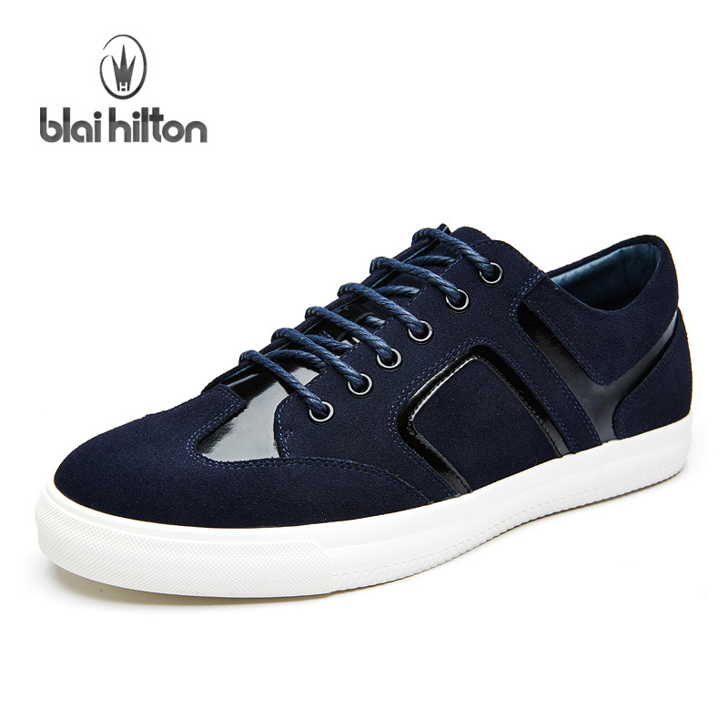 Blai Hilton New Fashion Spring/Autumn Genuine Leather men shoes Cow Suede shoes Breathable/Comfortable Men's Casual Shoes top brand high quality genuine leather casual men shoes cow suede comfortable loafers soft breathable shoes men flats warm