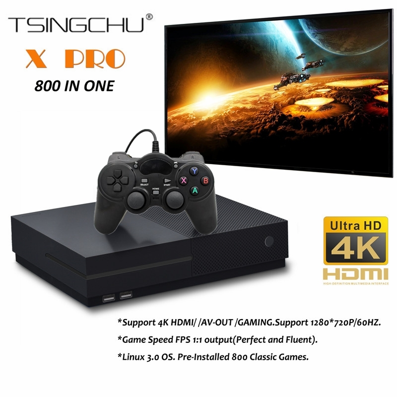 TSINGO X Pro 4K HDMI Output Retro Family TV Game Player Built in 800 Classic Games 64Bit Video Game Console For PS1CPSGBCSMS