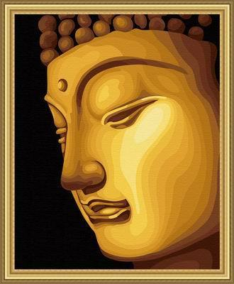 Diy digital oil painting gold series hand painting oil painting decoration oil painting golden buddha 40 50cm