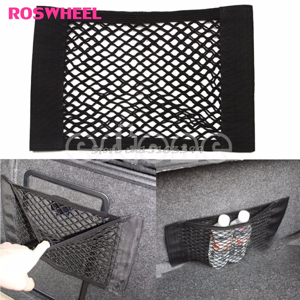 1PC Car Back Rear Trunk Seat Elastic String Net Mesh Storage Bag Pocket Cage Bag G08 Whosale&DropShip