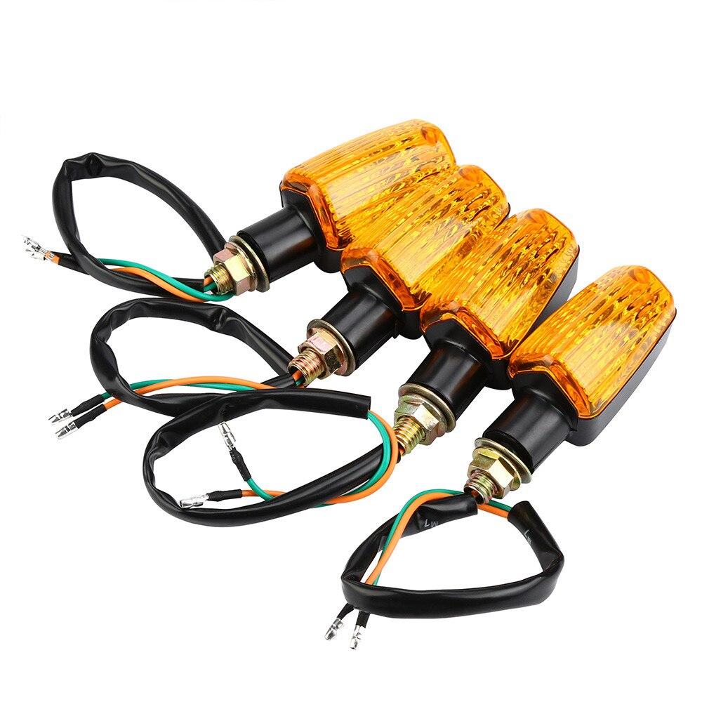 4 X Universal Motorcycle Motorbike Turn Signal Indicators universal 6000k Led lamp for auto Light bulb led car lights led 12v