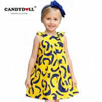 2018 summer Sleeveless Harness baby Girl printed dresses Brand dress Baby girl Kid Clothes Dress Children Clothing high quality