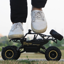 цена на 4WD Electric RC Car 2019 Rock Crawler Remote Control Toy Cars On The Radio Controlled 4x4 Drive Off-Road Toys For Boys Kids Gift
