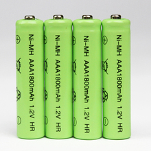4pcs/Lot High Energy 1.2V 1800mAh NiMh AAA Rechargeable Battery Ni-mh 3A Batteries Battria FREE shipping