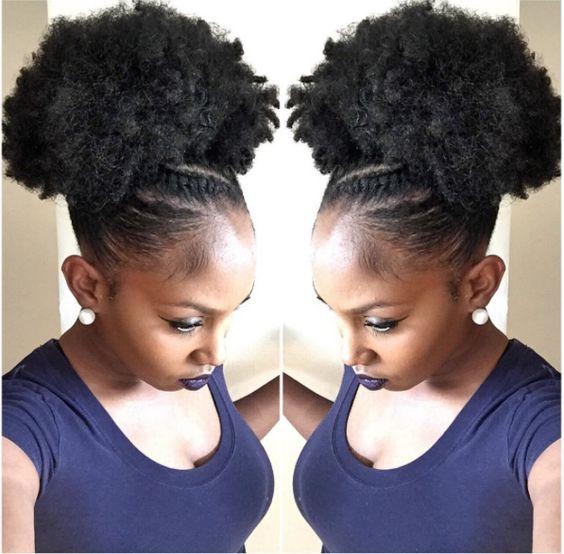 4c Afro Kinky Haarstukje Paardenstaart Met Kinky Curly Clip In