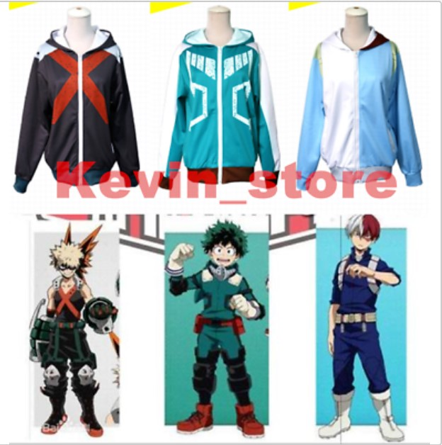 My Boku no Hero Academia Izuku Shoto Jacket Hoodie Bakugo Zipper  Coat Costumes