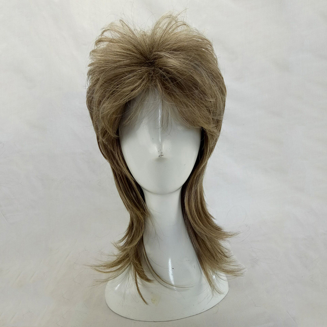 HAIRJOY Male Wig Layered Curly Hair Medium Length High Temperature Fiber Synthetic Man Cosplay Wigs 7 Colors Available