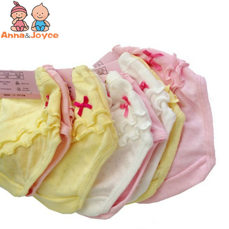 2pcs/lot Spring Baby Girls Briefs Kids Underwear  Breathable Cotton Side Children's Underwear Baby Pants  Suit 1-7 Years
