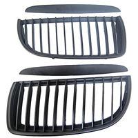 Black Front Kidney Grill Grilles For Bmw 05 08 Sedan Wagon E90 E91 320I 335I 4Dr