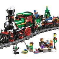 LEPIN 36001 770Pcs Creative Series The Christmas Winter Holiday Train Set Building Blocks Bricks Children Educational