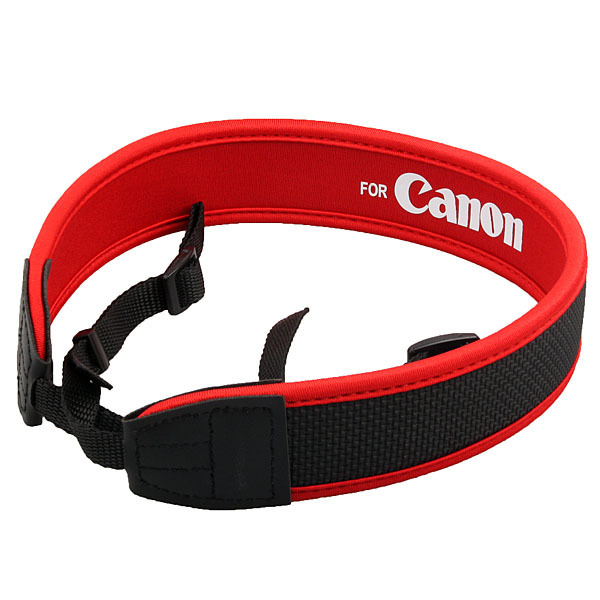 Red Neoprene Shoulder Neck Strap For Canon Camera EOS 5D 7D 60D 300D 400D 550D 1000D 1100D DSLR