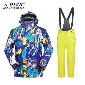 Kids Ski Suit Waterproof Index 15k Warm Coat Windproof Boys Jackets +Pants Sets Children Outerwear 3-16 Years Boy/Girl Ski Sets