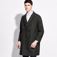 brand 50% wool striped men clothing double breasted suit jacket mens blazers and jackets 2016 fashion slim deep green causal 2xl