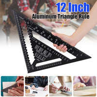 New 12 Inch Triangular Measuring Shape Ruler Aluminum Alloy Angle Protractor Precision Triangle Angle Protractor Trammel Tools