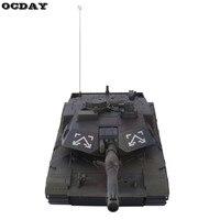 1:14 Tanque RC 4CH Control Remoto Tiger Tank Luz de Rotación de la Torreta y Modelo de Tanque de Control Remoto de música Mejor Regalo de Navidad para Niños