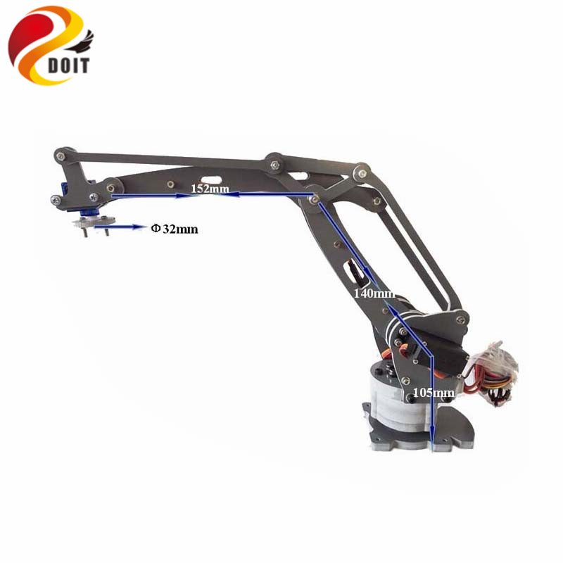 Officiel DOIT Robotic Arm 4 Aksel Stacker Servos Controlled Palletizing Model Controller