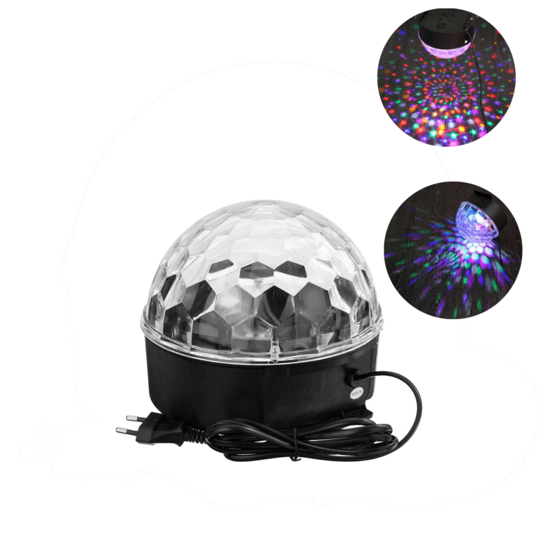New RGB LED Stage Lighting Effect 220V 18W Voice Control Crystal Magic Ball Laser Stage Lighting Party Disco Club DJ Light Lamp mipow btl300 creative led light bluetooth aromatherapy flameless candle voice control lamp holiday party decoration gift