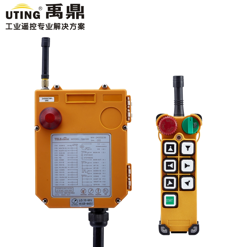 12V AC/DC 433MHz Industrial Wireless Redio Crane Remote Control F24-6D for Hoist Crane