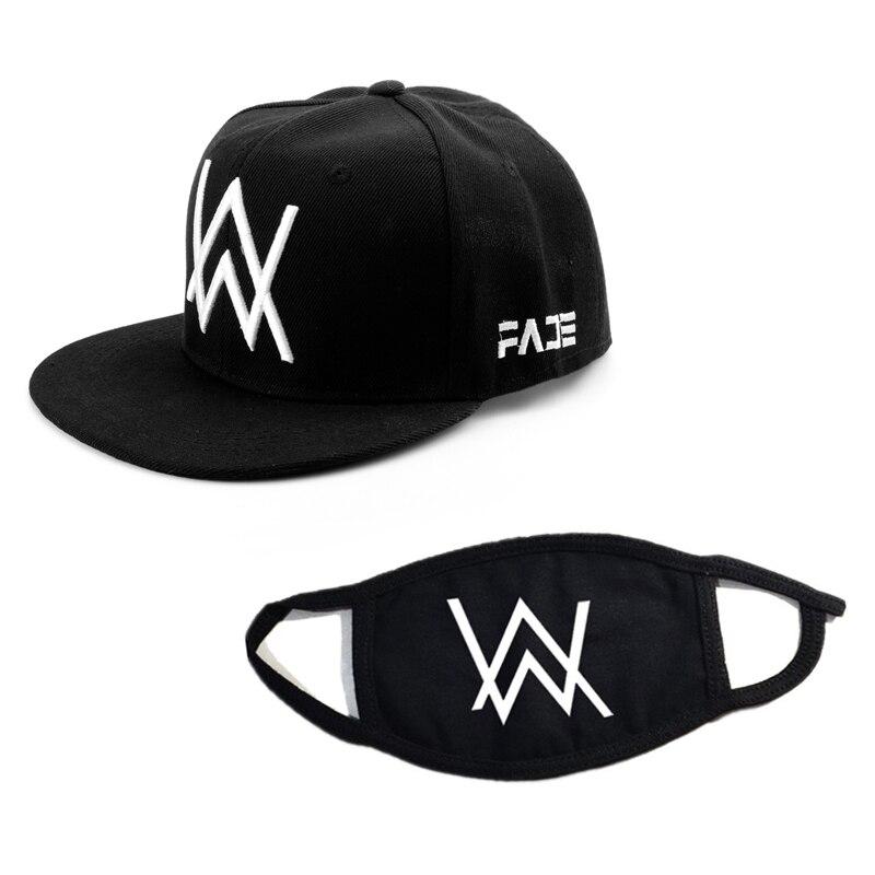 Alan Walker Mask&Baseball Cap Adjustable Black Caps Women Men Sport Outdoor Riding Hats Mask casquette snapback gorras