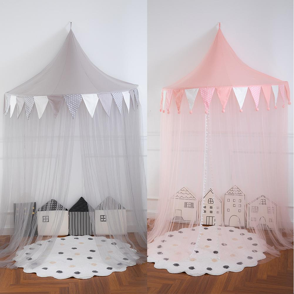 Children's Bed Tent Reading Corner Layout Half Moon Game House Bed Canopy For Girls Boys