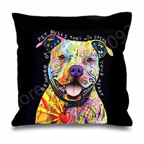 Pitbull Cushion Pillow Cover Case Gift
