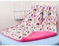 Mantas de bebé 2016 nueva espesar fleece doble capa envolvente cochecito bebe recién nacidos abrigo infantil swaddle bebé manta de cama