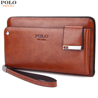 VICUNA POLO Famous Brand Business Men Clutch With Rotatable Card Holder Large Capacity Men Wallet High