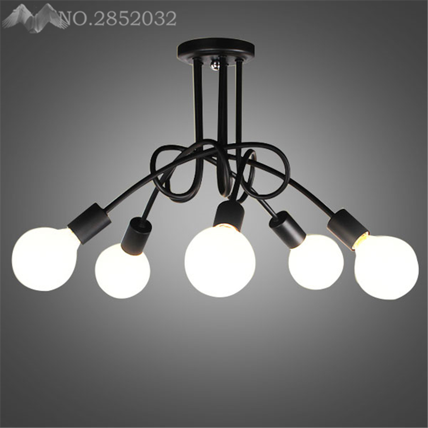 (LFH) Ceiling Lights Vintage Lamps Living Room Iluminacion Ceiling Light Wrought Iron Luminaria E27 Bulb Home Lighting Fixtures(LFH) Ceiling Lights Vintage Lamps Living Room Iluminacion Ceiling Light Wrought Iron Luminaria E27 Bulb Home Lighting Fixtures