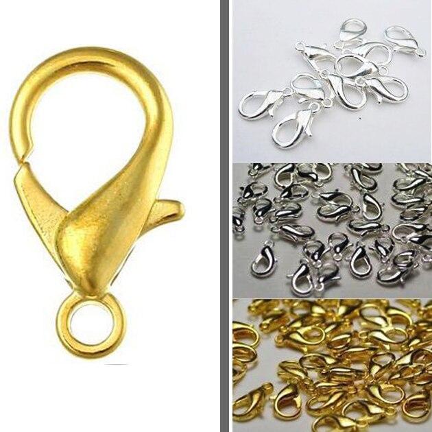 20 X 12 Mm oro plateado langosta Broches