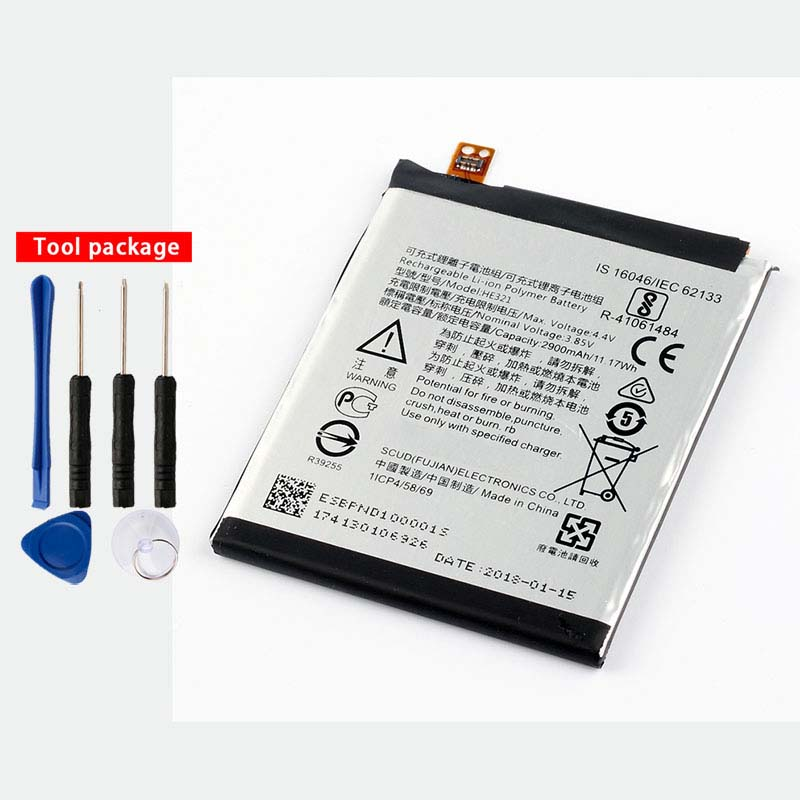 Original High Capacity HE321 phone battery for Nokia 5 Dual SIM (TA-1053 DS) 2900MaH N5