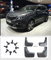 4Pcs OE Styled Car Front Rear Mud Flap Mudguards Mudflaps Splash Guards Fender For Peugeot 3008 GT 3008GT 2017 2018 Accessories