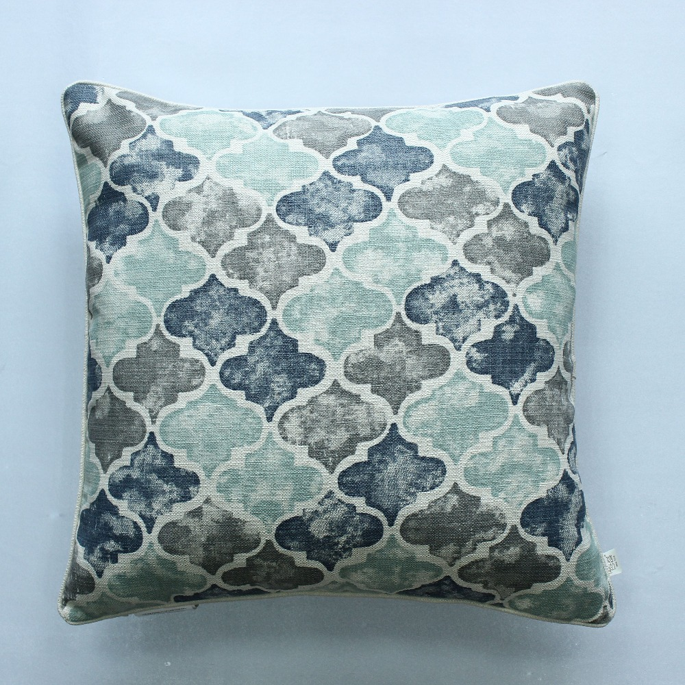 Large Throw Pillows Couch : VEZO HOME print geometric linen large cushion cover sofa large throw pillows cover home ...