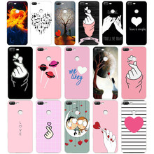 10WE a Love on the finger kpop heart Soft Silicone Tpu Cover phone Case for huawei Honor 8 9 10 Lite 8X p 8 9 lite 2017(China)