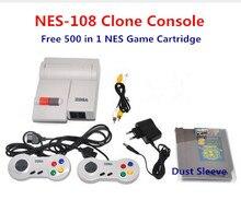 Для NES-108 Клон Консоли включают Два Контроллера, бесплатный 500 в 1 для NES Игры Картридж