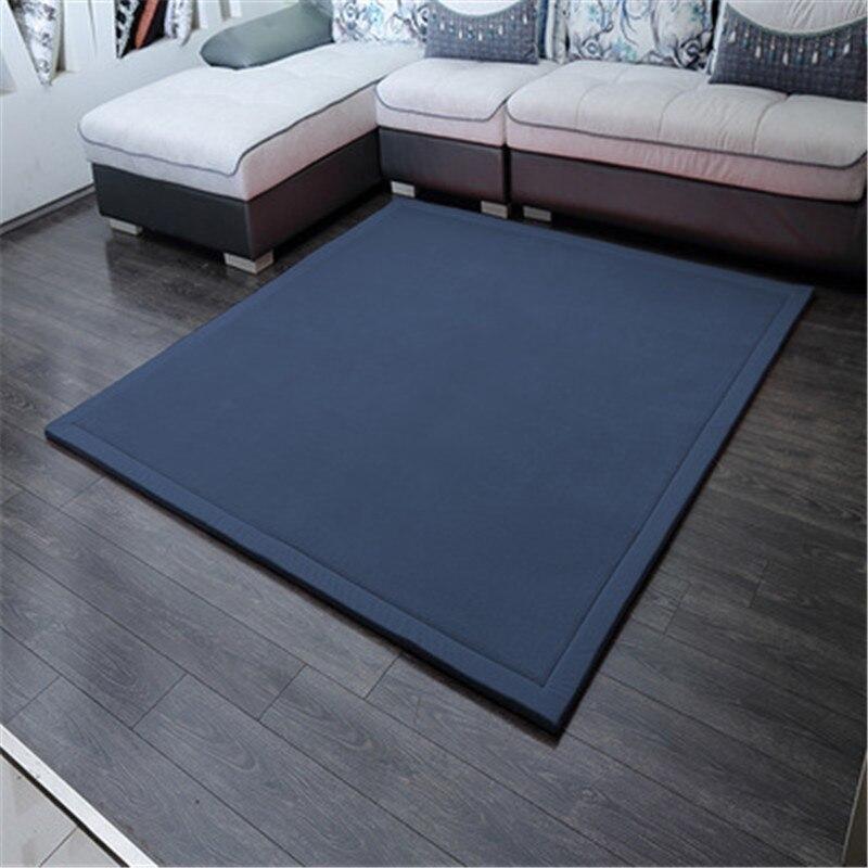 Moderne minimaliste épais tapis molleton tapis matelas bébé ramper jeu de couverture tapis chambre baie vitrée enfants ramper tapis