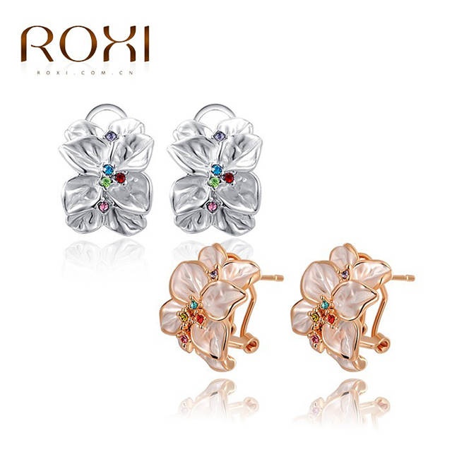 68e4be5a3dc46 ROXI Fashion Earrings Statement Rose Gold Color Best Gift For Girlfriend  Handmade Elegant Earring For Women Engagement Party