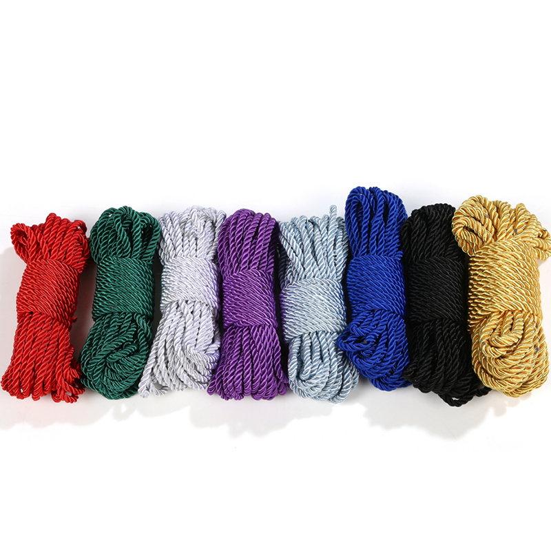 Colorful 5M 10M Soft Cotton  BDSM Bondage Silk Rope Restraints, Rope Cord Binding Binder Restraint,Sex Bondage Adult Sex Toys