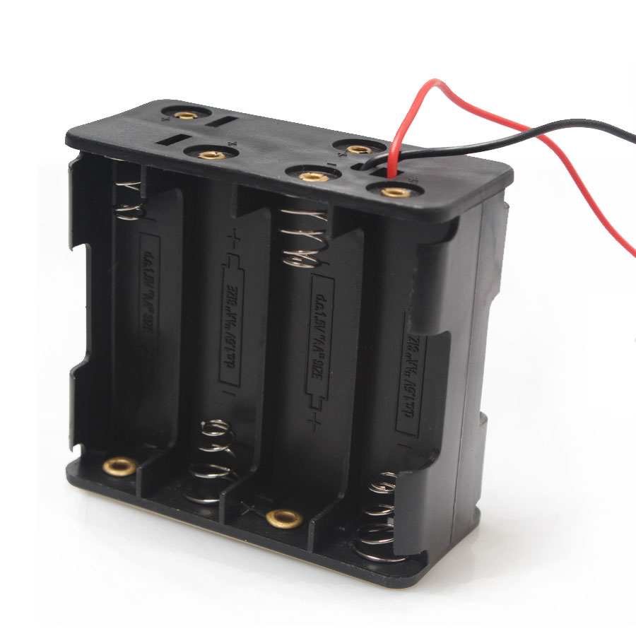 20PCS Battery Holder 12V 8*AA Battery Storage Box aa Holders Back To Back With Wire For AA Battery Rechargeable Battery