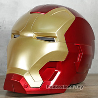 Iron Man Mask Childrens Cosplay Helmet PVC Figure Toy Collectiblle Model with LED Light 2 Colors