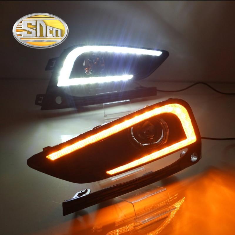 SNCN светодиодные дневные ходовые свет для Шевроле Cruze 2016 2017,Автомобильные аксессуары Водонепроницаемый ABS 12V для DRL туман Лампа украшение